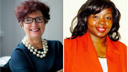 Left, Di Gowland (pic by Michael Cockerham) and right, Ngozi Muoneke (pic by Tina Fayem).