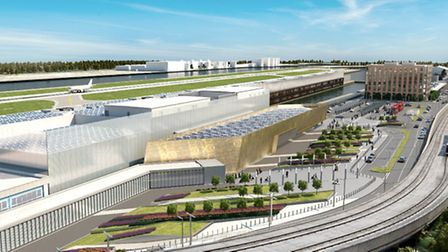 An artist's impression of the London City Airport development that was approved by Newham Council