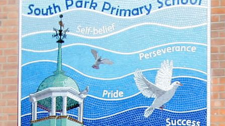 Children from South Park Primary School, had an artist come to the school to conduct a mosaic work