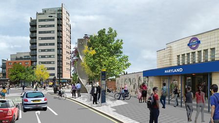 An artist's impression of how Maryland station would look following planned improvements