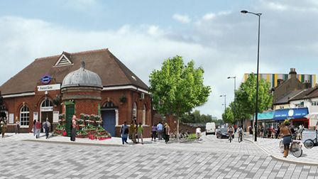 An artist's impression of how Forest Gate station would look following planned improvements