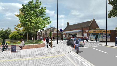 An artist's impression of how Manor Park station would look following planned improvements