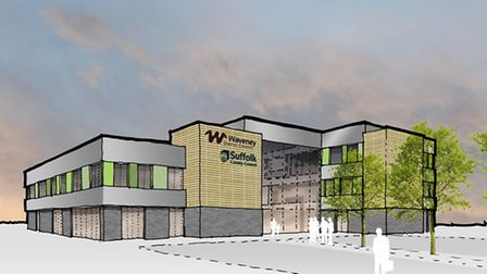 An impression of the shared council offices block that is proposed in Lowestoft.