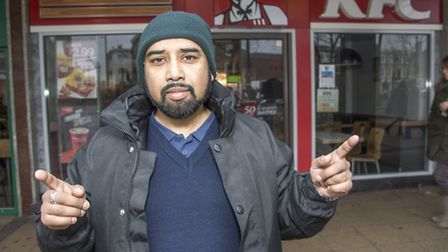 Monjurul a market stall owner ran after a man who stabbed someone in KFC on Friday in Stratford.