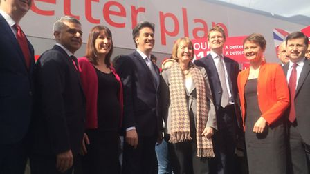 Ed Miliband kicks off his election campaign in Stratford