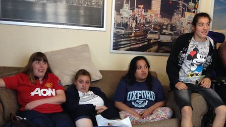 Danika Lubbock, Jade Stephenson, Roumna Begum and Lauren Mealand are residents at Blossom House.