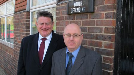 The deputy mayor of London Stephen Greenhalgh with Cllr Keith Prince during his visit to Redbridge P