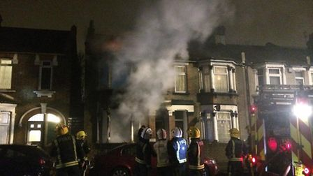 Two teenage girls were rescued from a house fire in Forest Gate (picture: LAS)
