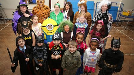 Pupils at Harold Court Primary School dressed up as book characters for World Book Day