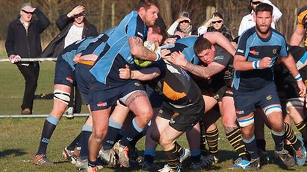 Eton Manor attacking through Nick Cooper-Hicks (pic: Martin Pearl/Eton Manor RFC)