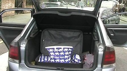 Boot of car. Picture: National Crime Agency