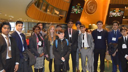Students from Stratford School Academy at the National High School Model United Nations Conference i