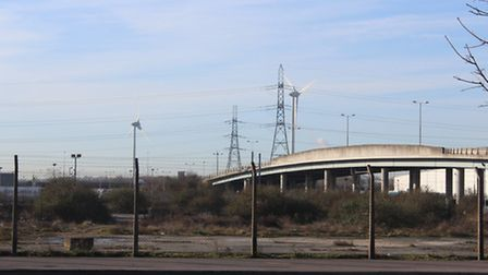 Proposed site for development in the Rainham and Beam Park plan where the train station will be