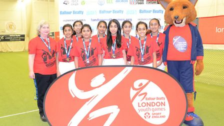 Redbridge won silver in the girls' indoor cricket finals at Lord's (pic: LYG)