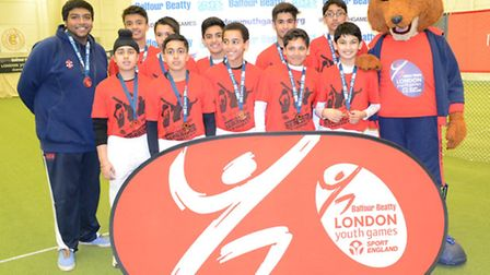 Redbridge won bronze in the boys' indoor cricket finals at Lord's (pic: LYG)