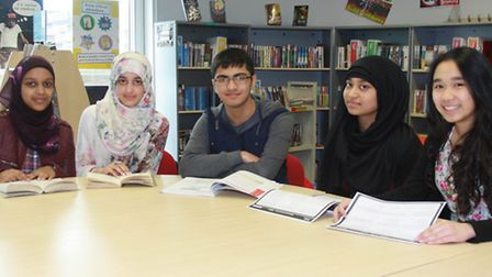 Left to right: Sumaiya Yonis, Mahim Siddique-Sethi, Adam Patel, Mufeeda Chowdhury and Juvelyn Calia