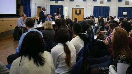 Students heard from six parties during the hustings