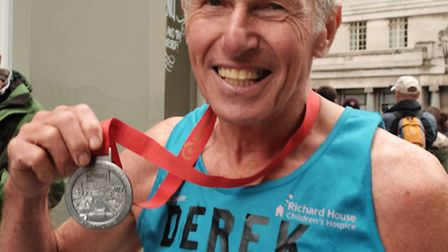 Derek James has another medal to add to his collection
