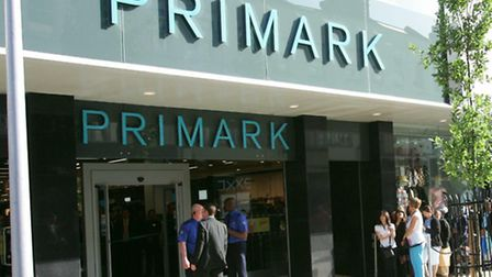 Queues outside the new Primark store