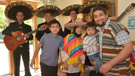 Saam Amerat, right, with children Abdullah, Ayesha and Abdulrahman at one of the many family fun day