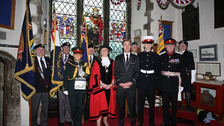 St Andrew's Church in Hornchurch held a service for Anzac Day, the anniversary of the landing of the