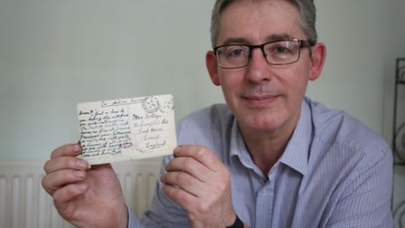 Dave Orme recently bought a postcard which was sent from a WW1 soldier to someone back home in East