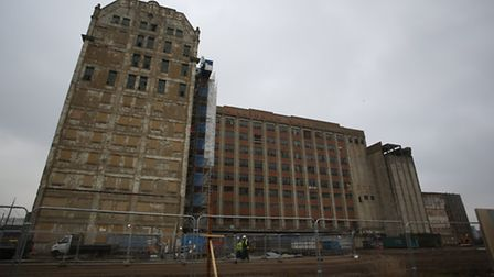 The old Millennium Mills building which will be part of a new development in Silvertown