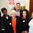 Wes Streeting and Elaine Norman with the young carers
