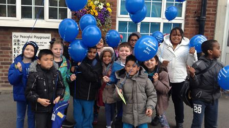 Pupils from Tollgate Primary School mark World Autism Awareness Week