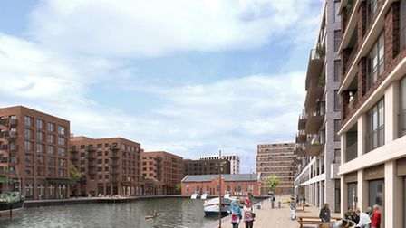 A computer generated of image of Great Eastern Quays