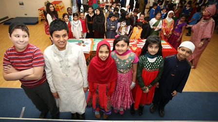 Woodlands Primary School in Ilford hosted an International day for its pupils where the children dre