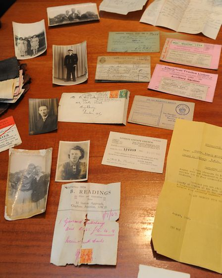 Collection found in Edward Parker.s wallet