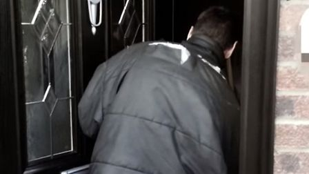 Still from police crime prevention video - entry