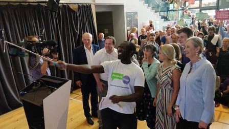 Sir Vince Cable, Femi Oluwole, MP Sarah Wollaston, MP Stephen Doughty and MEP Molly Scott Cato at