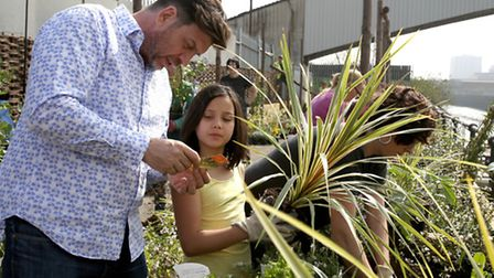 The Royal Horticultural Society visited Cody Dock in Newham to help to transform the concrete area i