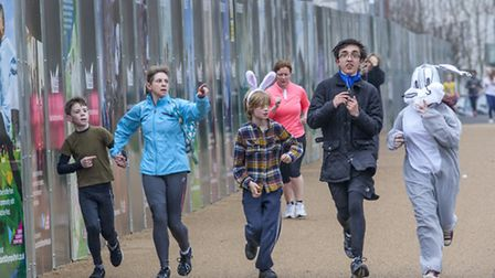 The Bunny Run saw participants take on a course around Queen Elizabeth Olympic Park
