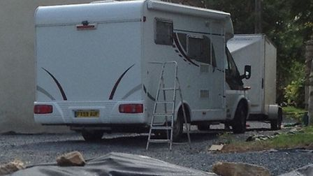 A motorhome and a trailer containing rare antiques were stolen from Faversham Close, Chigwell. Pictu