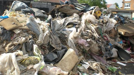 The waste which was dumped in Ongar Way, Rainham. Picture: Havering Council