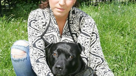Karolina Adamonyte, 19, and her dog Tina were attacked in Christie Gardens Park - a minute away from