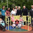Iain Duncan Smith MP meeting parents at Churchfields Junior School in Churchfields, South Woodford,