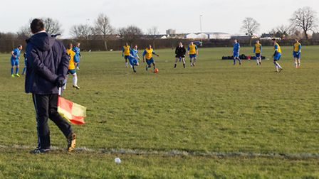 Oakfield playing fields in use for football matches