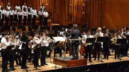 Students from Lister School performing at the Barbican