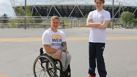 Paralympic Athlete's David Weir and Ollie Hynd visited Queen Elizabeth's Olympic Park as part of the