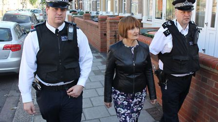 Dame Tessa Jowell joins police officers on the dawn raid