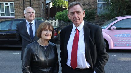 Dame Tessa Jowell with the Mayor of Newham, Sir Robin Wales