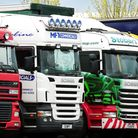 General view of HGV lorries.