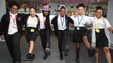 Students at Eastlea Community School get into the VE Day spirit