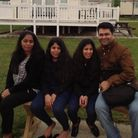 Shighi Rethish, Rethishkumar Pullarkattil and daughters Niya and Neha, who were found dead at the fa