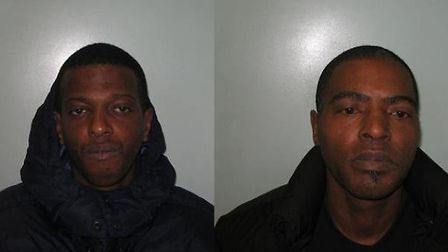 Earl Fraser, left, and Wayne Richardson, right, were jailed for a combined total of 10 years for pos