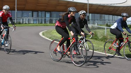 Journalist Anna Silverman tried out cycling at the Velopark in Queen Elizabeths Olympic Park, Newham